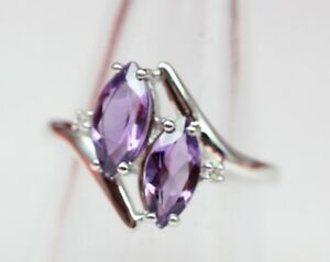 Exclusiver-1-2-Carat-Amethyst-Weisstopas-Ring-925-Silber-Topas-Groesse-8-58-18