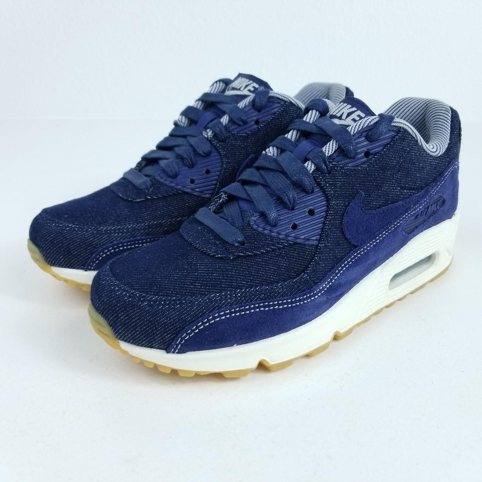 NIKE Air Max 90 SE Womens Sz 7 Shoes Denim Blue White Gum