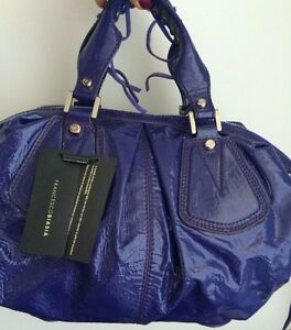 Image is loading New-Francesco-Biasia-Handbag-High-Shine-Patent-Leather- b2ba3d1d7fea1