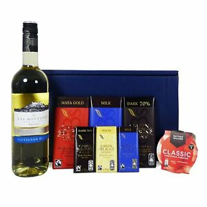 Details About Wine And Chocolate Gift Hamper With Las Montanas Sauvignon Blanc White Wine