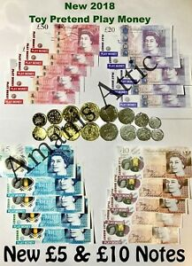 Kids-Child-Play-Fake-Pretend-Toy-Money-Role-Shop-Cash-Pound-Notes-Coins-Party