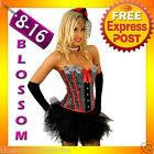 5119 Burlesque Red Moulin Rouge Corset Tutu 8 10 12 14