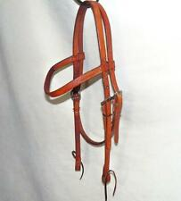 Made in USA Martin Saddlery Harness Leather Training Browband Headstall Bridle