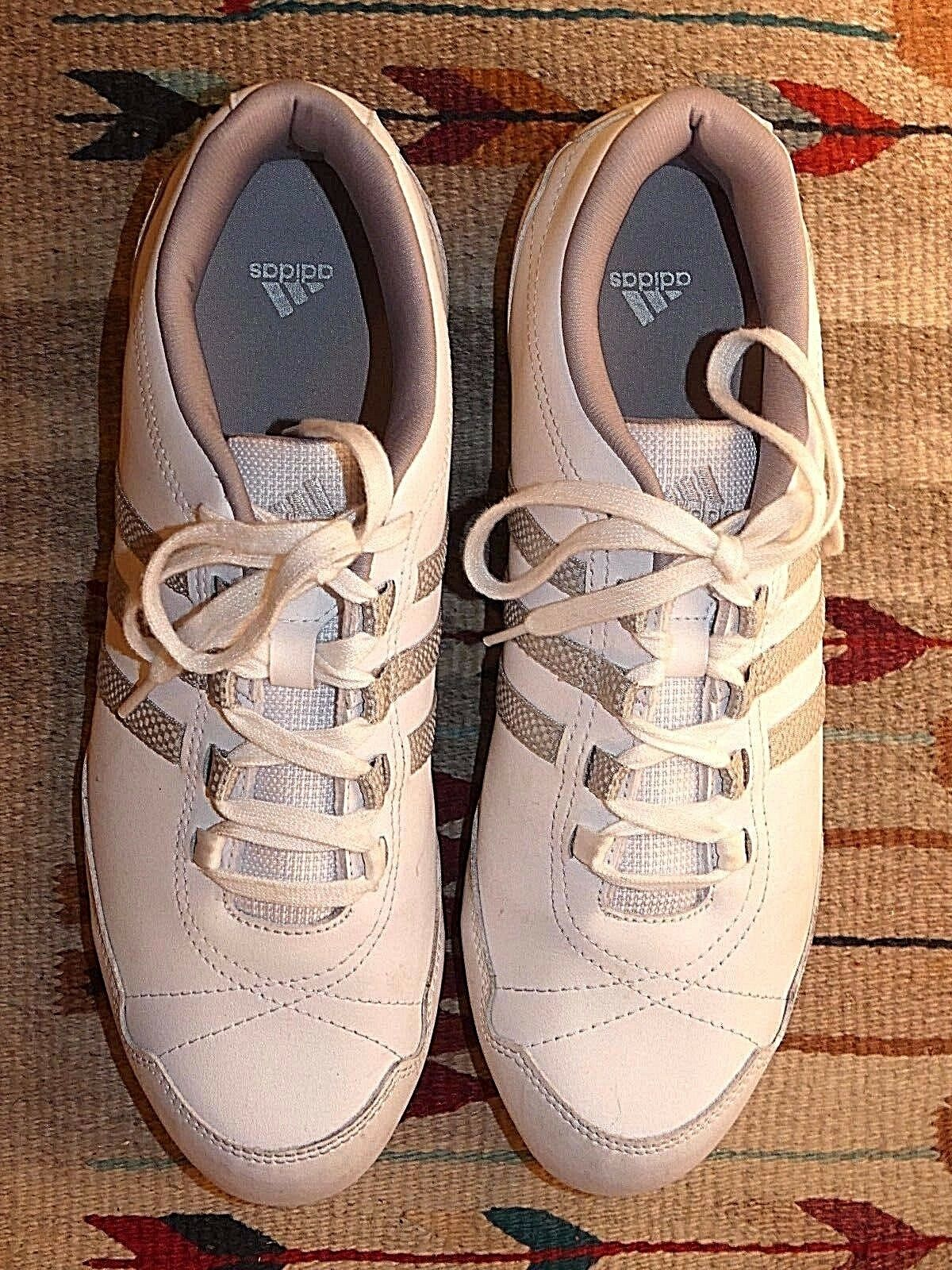 Women's Adidas cool White Leather Casual cool Adidas Sneaker Sz. 9 MINTY! bc644b