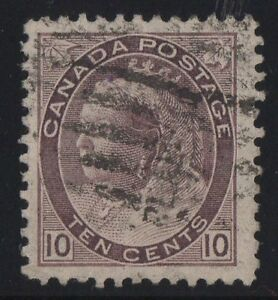 MOTON114-83-Numeral-10c-Canada-used-well-centered-XF