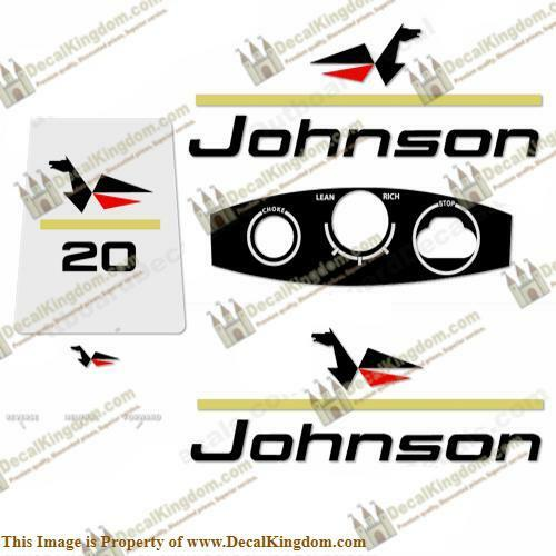 Johnson 1967 Outboard Decal Kit (Multiple Sizes Available) 3M Marine Grade