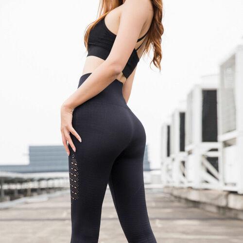 Women High Waist Yoga Fitness Leggings Seamless Athletic Sports Pants Trousers