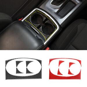 Crosselec Carbon Fiber Cup Holder Cover Trim Decor Sticker For Dodge Charger 2015-2020