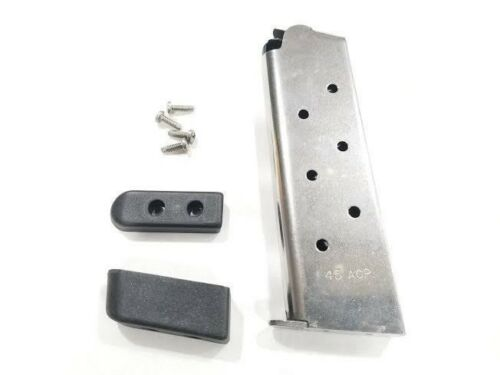 Check-Mate Industries 1911 Gun Magazine 8 Rounds Stainless Steel 45 ACP Rem Base