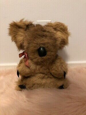 Vintage Koala Bear Real Kangaroo Fur Stuffed Animal Made ...