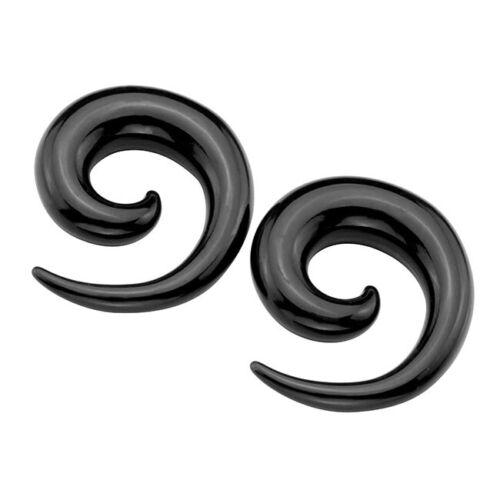 Acrylic Spiral Taper Flesh Tunnel Ear Stretcher Expander Stretching Plug Snail