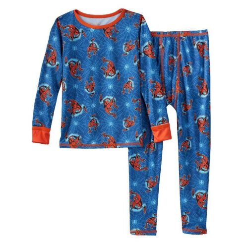 The Amazing Spider-Man Chill Chasers 2 Piece Set Cuddl Duds Marvel Comics NEW