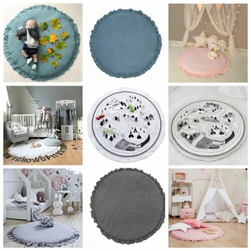 100cm Soft Lace Baby Kids Game Gym Activity Play Mat Crawling Blanket Floor Rug