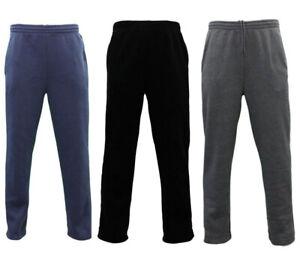 NEW-Men-039-s-Fleece-Lined-Track-Pants-Track-Suit-Pants-Casual-Winter-Elastic-Waist