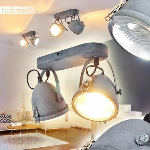 Flur Dielen Strahler Vintage Decken Lampen grau Wohn Schlaf Zimmer Beleuchtung