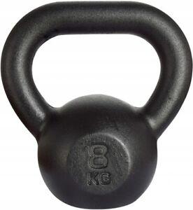 Kawmet-Cast-Iron-Kettlebell-8-kg-Black