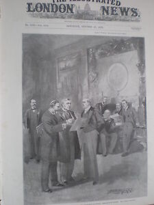 Meeting of the Board of the Admiralty 1898 old print - <span itemprop=availableAtOrFrom>Ilfracombe, United Kingdom</span> - Happy to reimburse on returns. I try to provide a full description and a good photograph so should you change your mind after purchase I do expect that you will pay return postage. On  - Ilfracombe, United Kingdom