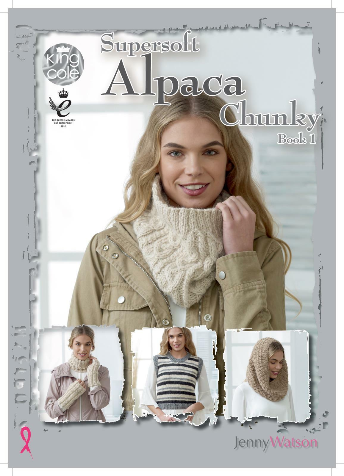 King Cole Ladies Chunky Knitting Pattern Easy Knit Blanket Shawl Wrap /& Hat 4696