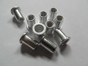 10 Stück Blindnietmuttern M4 ALU Nietmuttern Flachkopf r