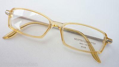 Brille Schmale Gläser Honigfarben Plastik Mit Metallbügel Unisexfassung Grösse M