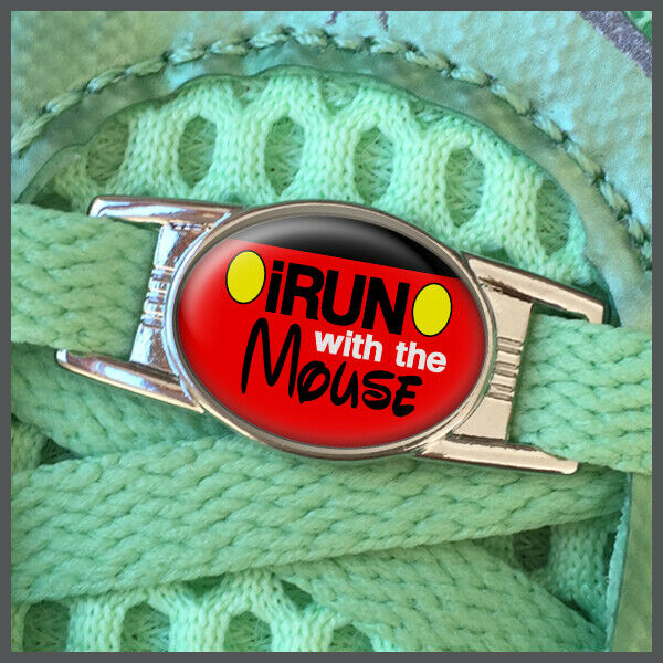 RunDisney I Run With The Mouse Mickey Mouse Shoelace Shoe Charm or Zipper Pull