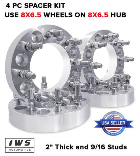 "4X 8X6.5 WHEEL SPACERS2/"" DODGE RAM 2500 3500 FORD F2509//16/"""