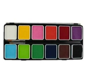 Diamond FX 12 Color  Essentials Palette With free 2 Brushes(12 x 6g)