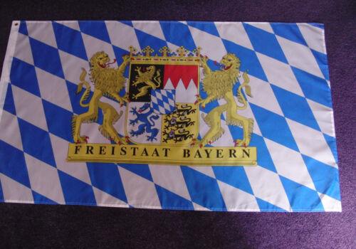 Fahne FREISTAAT BAYERN 1,5 x 0,9 m zwei Ösen Flagge wetterfest Flag NEU # F277