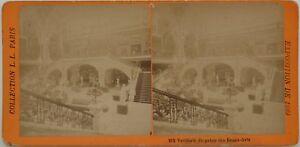 Palais Dei Stampa Expo Scultura Parigi 1889 Foto Stereo Vintage Albumina
