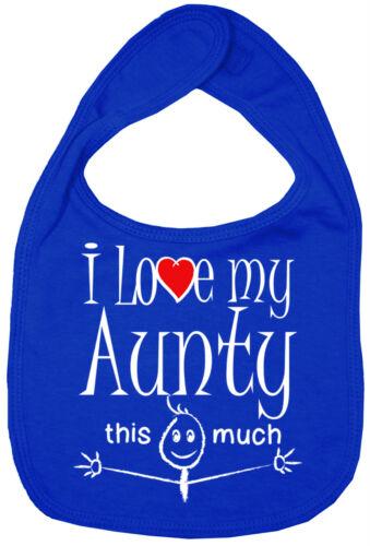 """Tantine Bavoir bébé /""""J/' aime ma tante autant/"""" cute aunt tante nièce neveu Cadeau"""