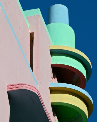 art deco miami modern painting vinatge A0 POSTER SIZE PRINT FOR YOUR FRAME
