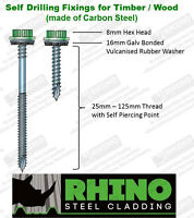 Corrugated Roofing Sheets & GRP Rooflight Tek Screws Timber Wood Fixings