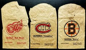 1956 Table Hockey Eagle Tin Men Paper Bags (5); no Chicago Black Hawks