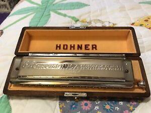 PRISTINE HOHNER GERMANY 64 CHROMONICA PROFESSIONAL MODEL 280 HARMONICA 16 HOLE