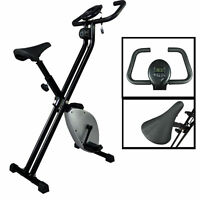 Black/silver Foldable Excercise Bike Cardio Cycling Workout Home Gym X15