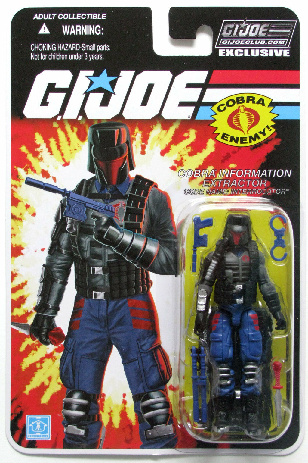 GI JOE COLLECTOR CLUB interrogateur Comme neuf on Card FSS Exclusive Action Figure
