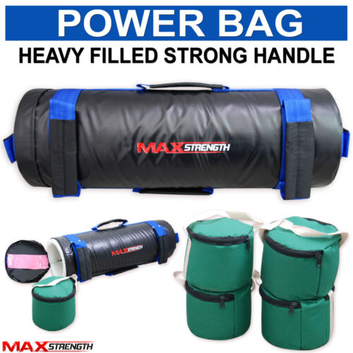 MAXSTRENGTH Boxing Power Bag Filled Sand Bag Cross Fit Exercise Training MMA Weight Bags 10kg 20kg