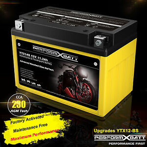 AGM Battery YTZ14S YTX12-BS Polaris Sportsman 110 RZR 170 Phoenix Sawtooth 200