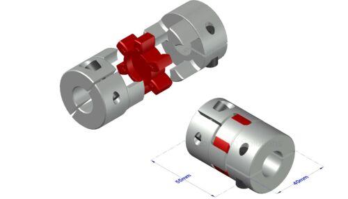 D40L55 stepper servo motor shaft spider coupling coupler 12 14 16 17 19 20