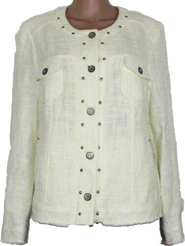Coton Blazer Femmes Veste Jaune Gelco q4T0RxwX
