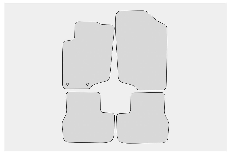 Premium Fußmatten für Peugeot 207 CC Cabrio Bj 2006-2015