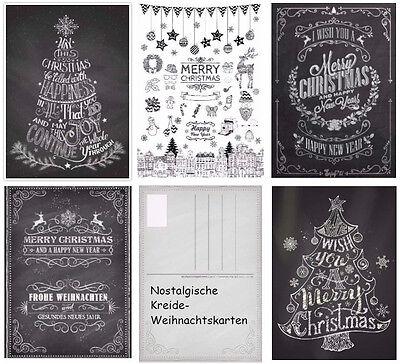 nostalgisches weihnachtskarten set nostalgie iii kreide. Black Bedroom Furniture Sets. Home Design Ideas