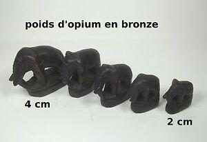 Serie De Poids D'opium En Bronze, Forme éléphant,antique **serie 03 Js0i6clb-07222855-908707129