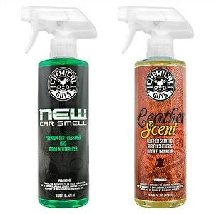 Chemical Guys New Car Scent & Leather Scent Combo Pack (16 oz)