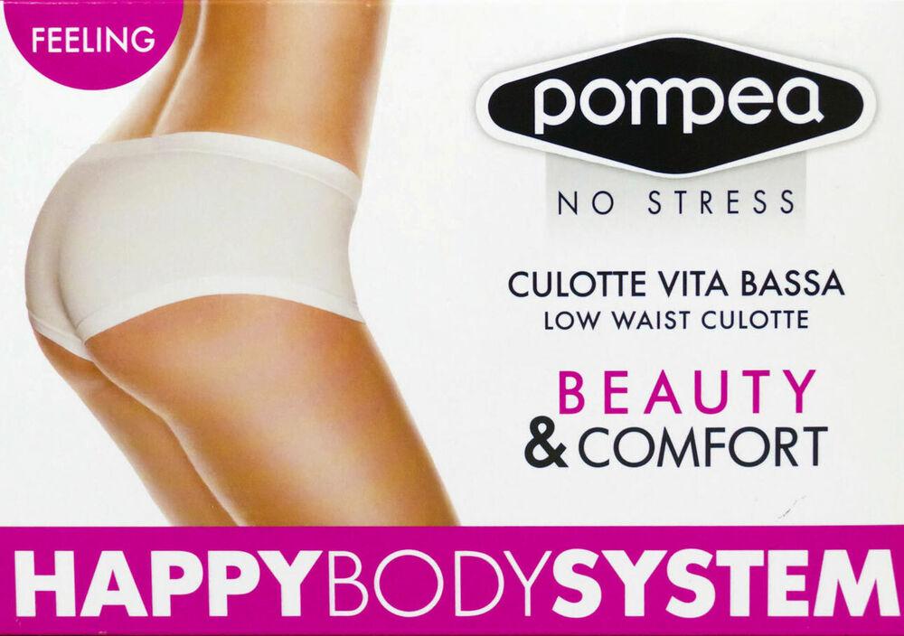 3 Slips Culotte Femme Pompea En Doux Microfibre A Taille Basse - Culotte Vita B