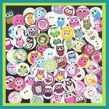 100 Precut assorted CUTE OWLS HOOT BOTTLE CAP IMAGES Mix 1 inch discs round