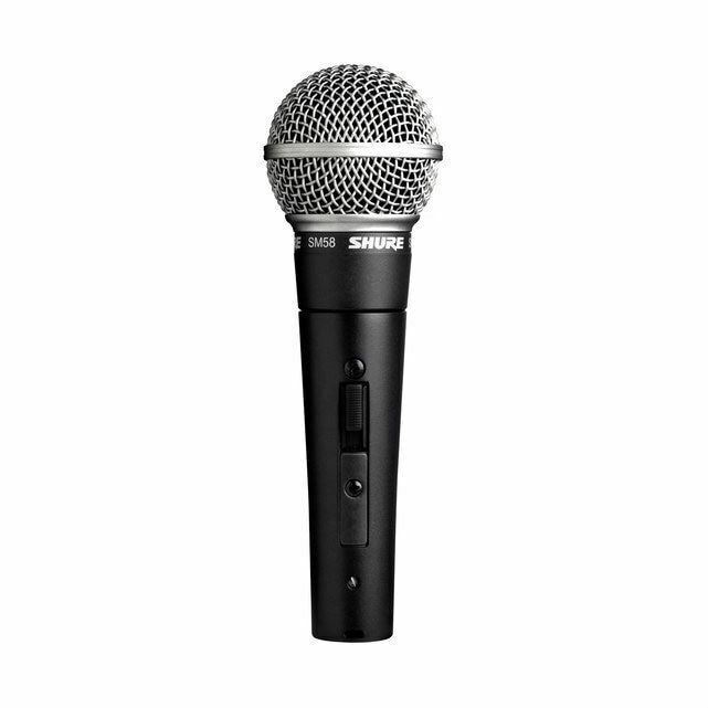 Shure SM58 Cardioid Handheld Dynamic Vocal Microphone w  On Off Switch
