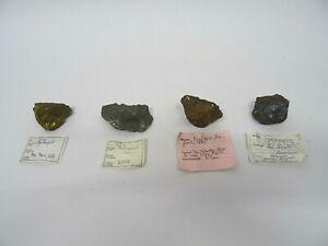 4 Mineralien Apachengold Antimonit usw