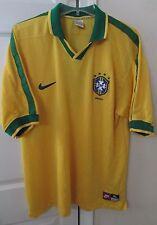 Brasil CBF Yellow XL Soccer Futbol #9 Jersey Shirt by Nike