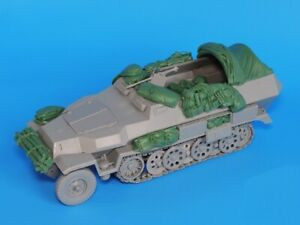 1-35-Resin-WWII-German-sd-kfz-251-Half-track-Stowage-Set-Unpainted-QJ087